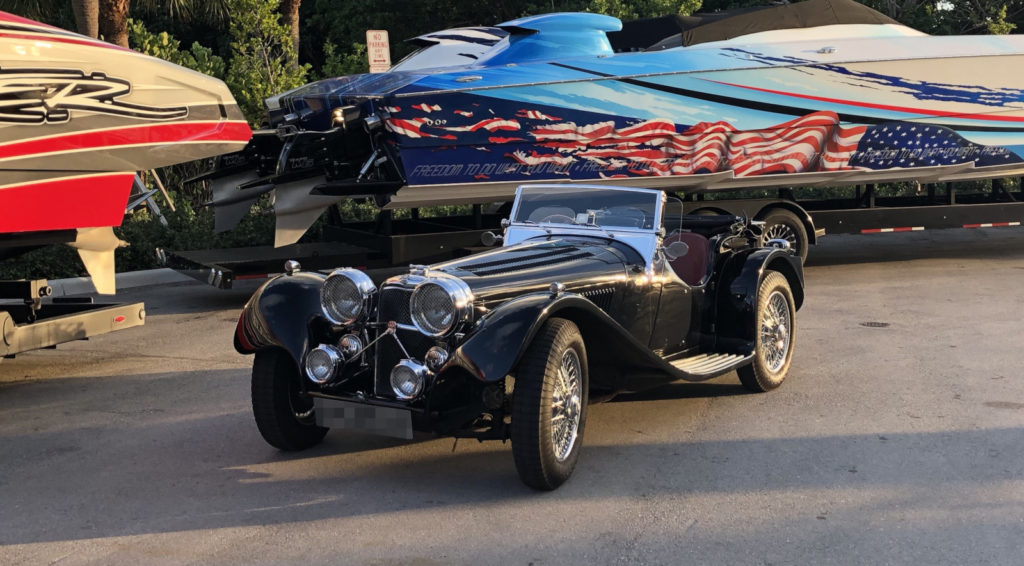 1979 Jaguar SS Reproduction shipped to the US by Autoshippers