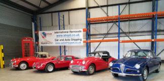 Classic car shipping banner