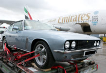 Jensen awaitng loading - car shipping - air freight