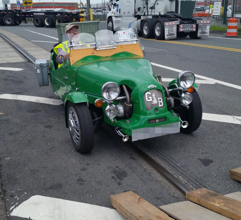 Lomax 223 kit car on arrival in the USA after being shipped from the UK by Autoshippers