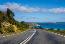 Caribbean seaside road - driving in the caribbean