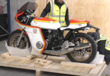 Motorbike shipping - Suzuki Barry Sheen Tribute