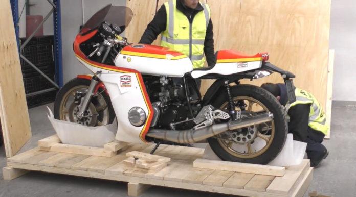 Motorbike shipping - Suzuki Barry Sheen Tribute