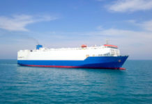 RoRo car shipping vessel