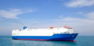 RoRo car shipping vessel