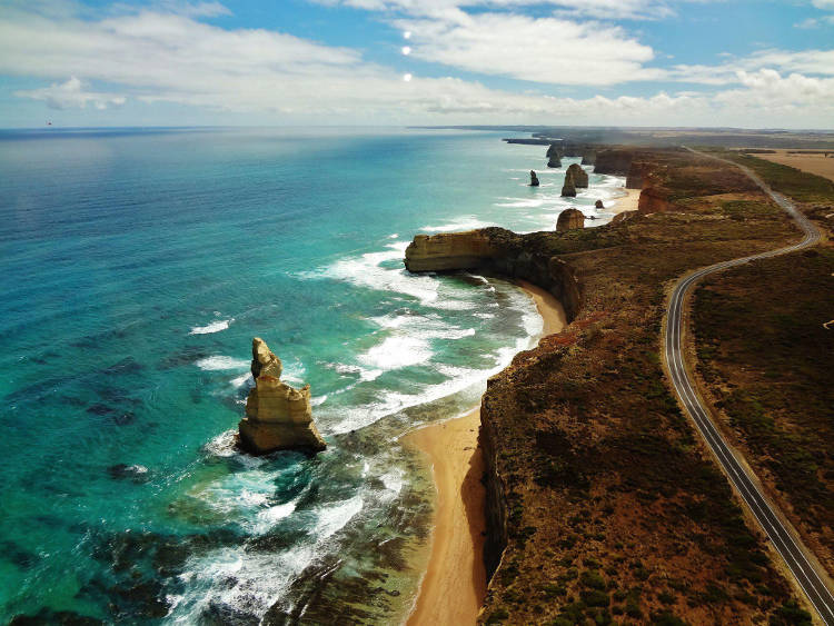 Scenic view of the Great Ocean Road
