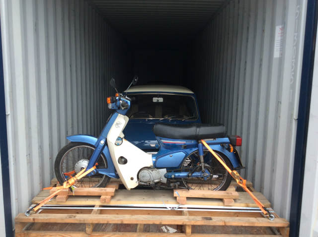 Car Shipping Honda bike + Mini