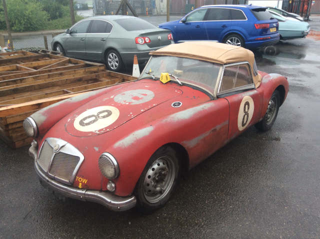 Car Shipping Red MG A