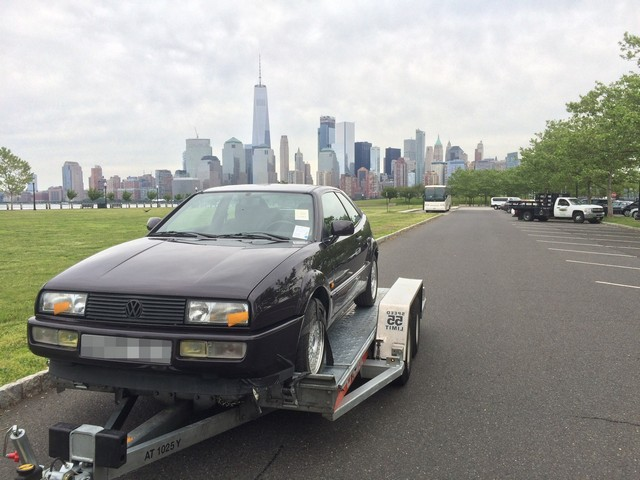 VW Corrado shipped to New York, USA
