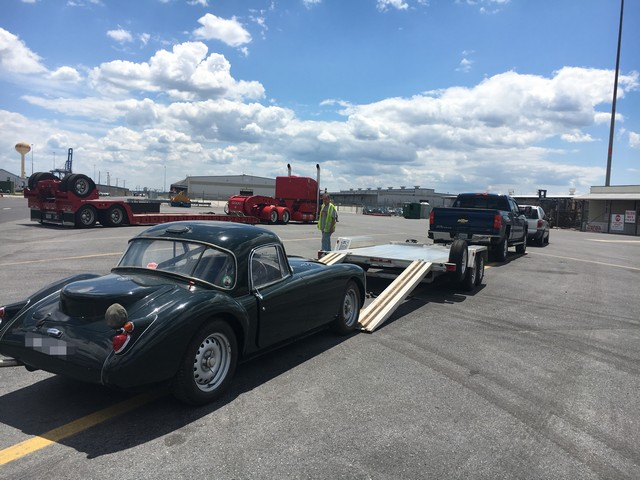 MG MGA Coupe shipped to VA, USA