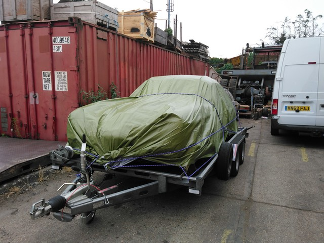 Jensen Interceptor shipped to TX, USA