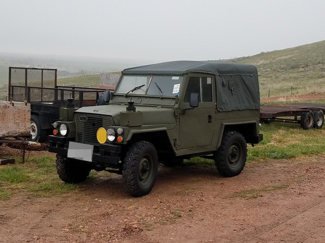 Land Rover Lightweight + trailer shipped to WY, USA