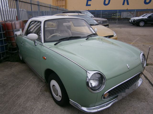 Nissan Figaro prior to shipping to the USA