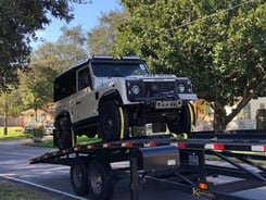 Land Rover Defender 90 on arrival in Jacksonville, USA | Autoshippers Car Shipping