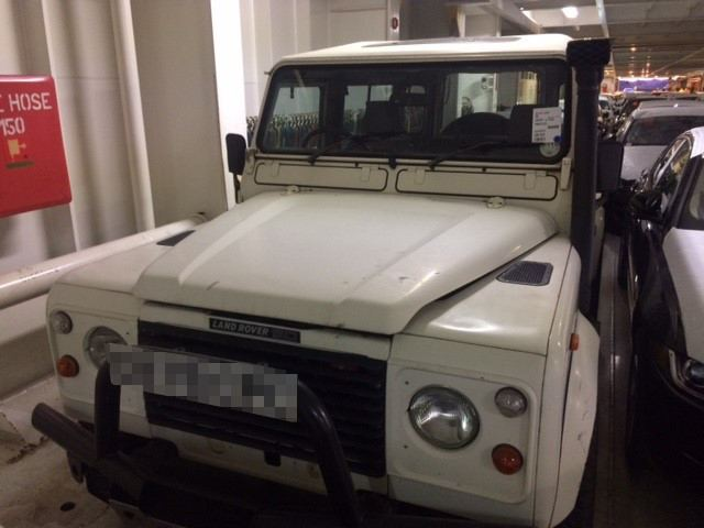 Land Rover shipped to the US by RoRo