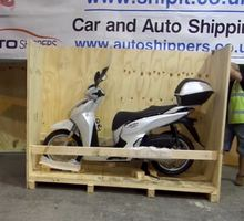Packing a Honda Scooter to be shipped abroad