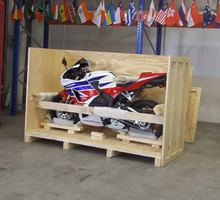 how much does it cost to ship a motorcycle overseas? - Crating a Honda
