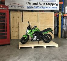 motorcycle shipping - Kawasaki - prior to crating