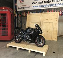 crating motorbike for overseas shipping - Honda