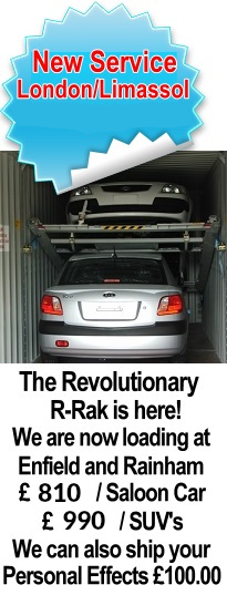 R-Rak Car Shipping to Cyprus